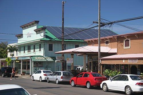 Solar panel installed on rooftop in Honokaa, HI