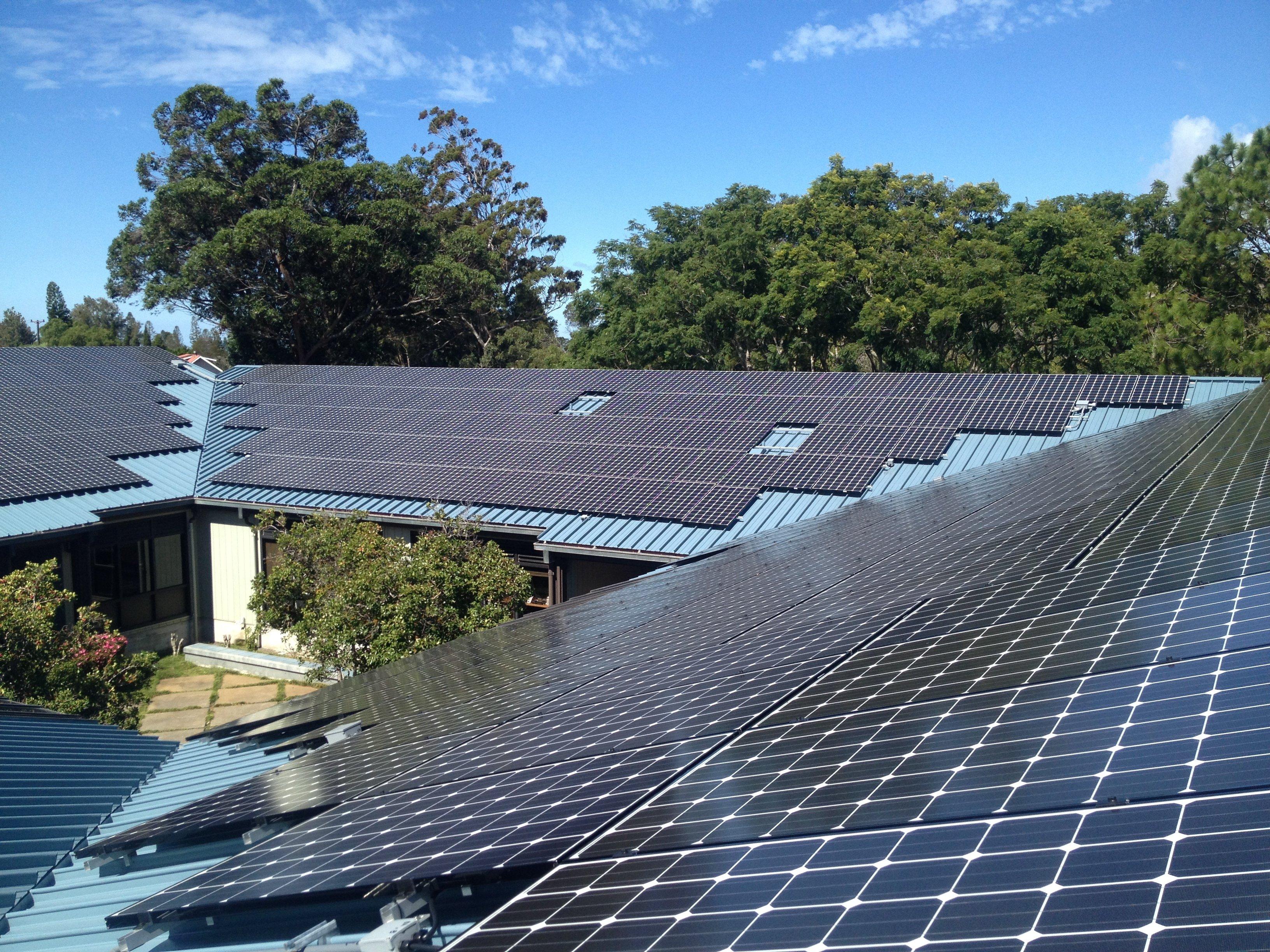 Canada France Hawaii Headquarters installed 98.75 KW solar power system in Honokaa, HI
