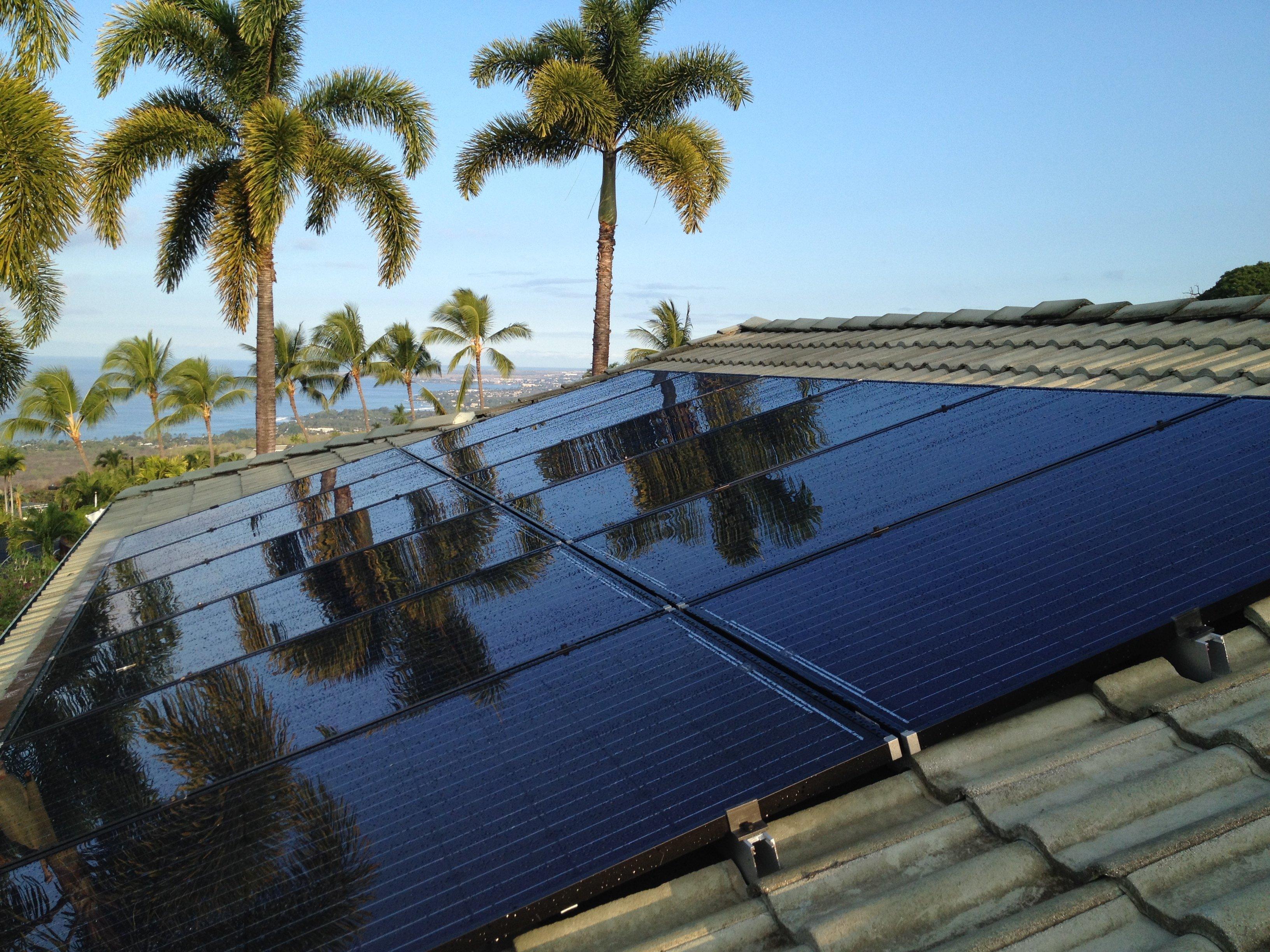 7.42 KW Solar PV system installed on rooftop in Honokaa, HI
