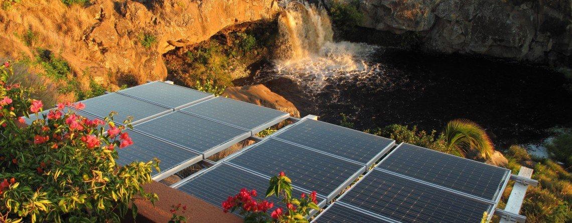 Solar panel installed  in Honokaa, HI