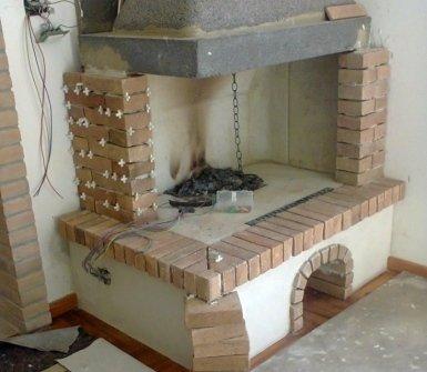 ristrutturazione caminetti mattone