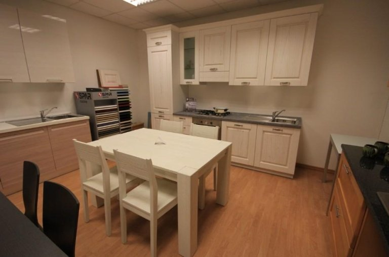 cucina e complementi legno poro aperto bianco