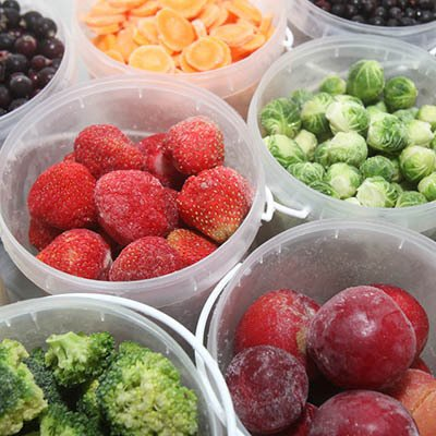 Plastic Container Of Fruit And Vegetables