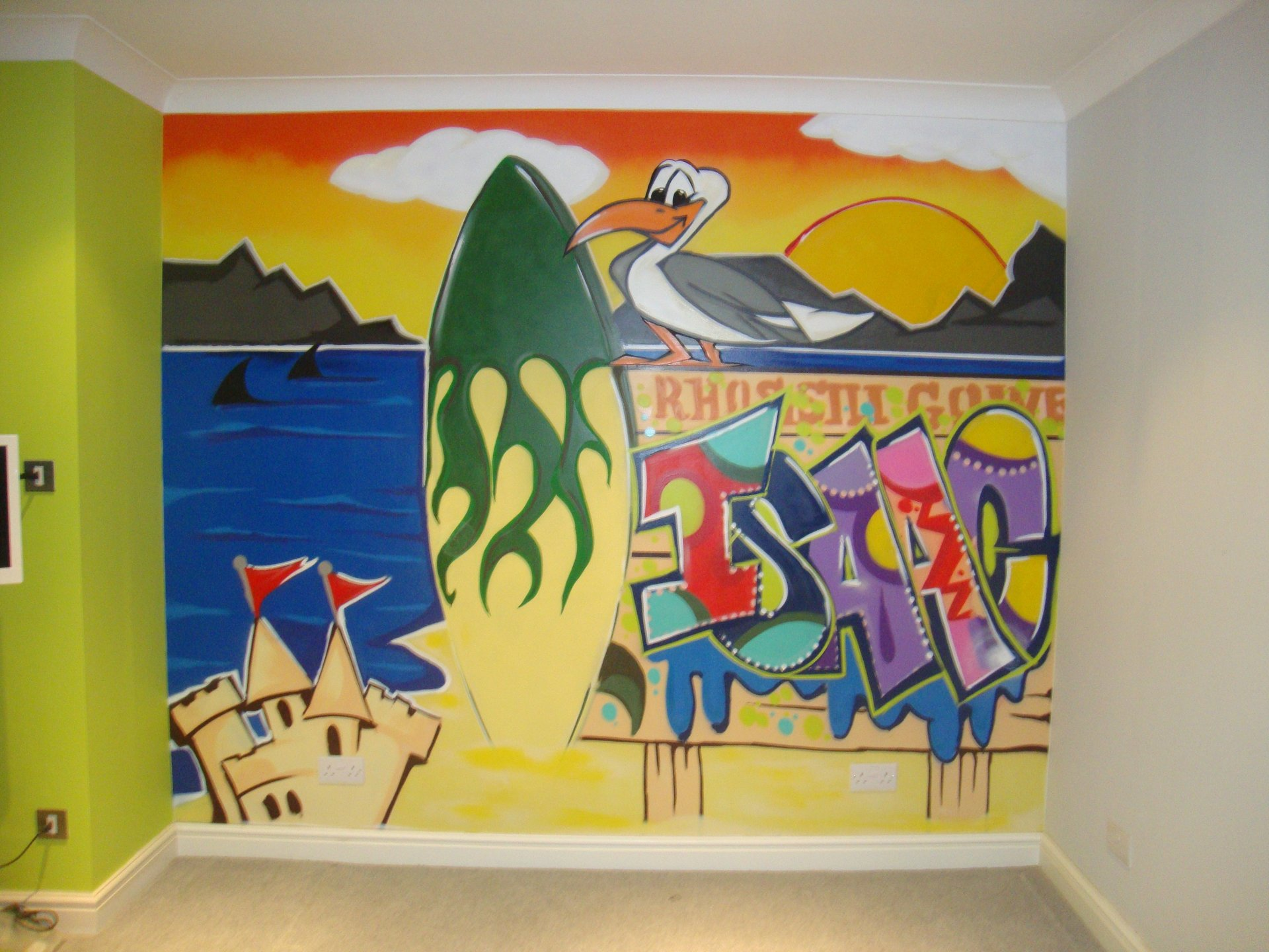 Graffiti wall art bedroom - Full Bedroom Wall Painted With Graffiti Almondsbury