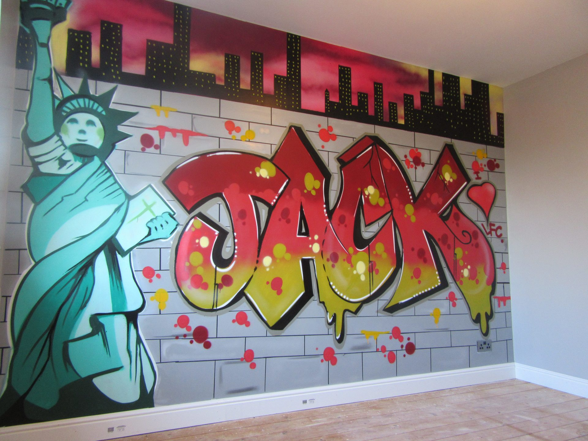 Bedroom wall graffiti murals Painting graffiti on bedroom walls