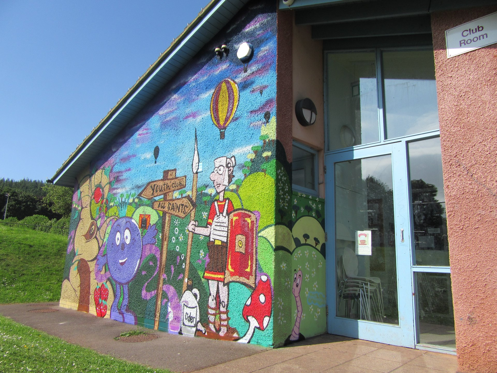 Long ashton community centre graffiti mural
