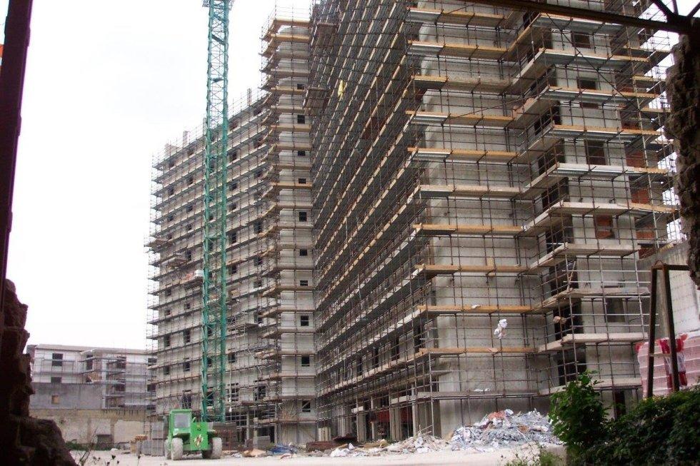 ponteggio ristrutturazione edificio in c.a.