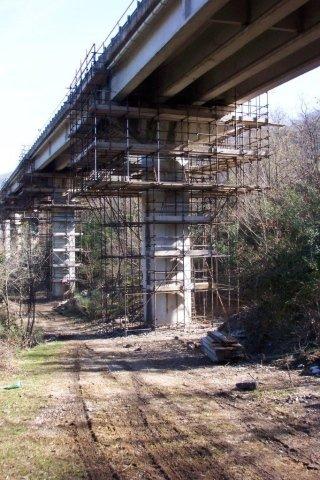 ponteggio manutenzione ponte