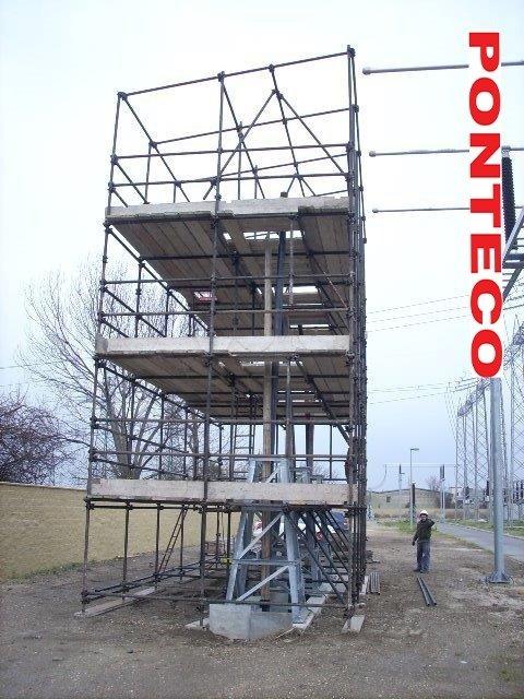 ponteggio posizionamento cavi centrale elettrica
