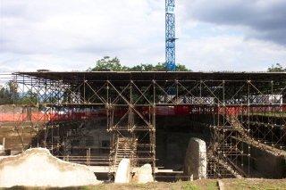 copertura scavi archeologici