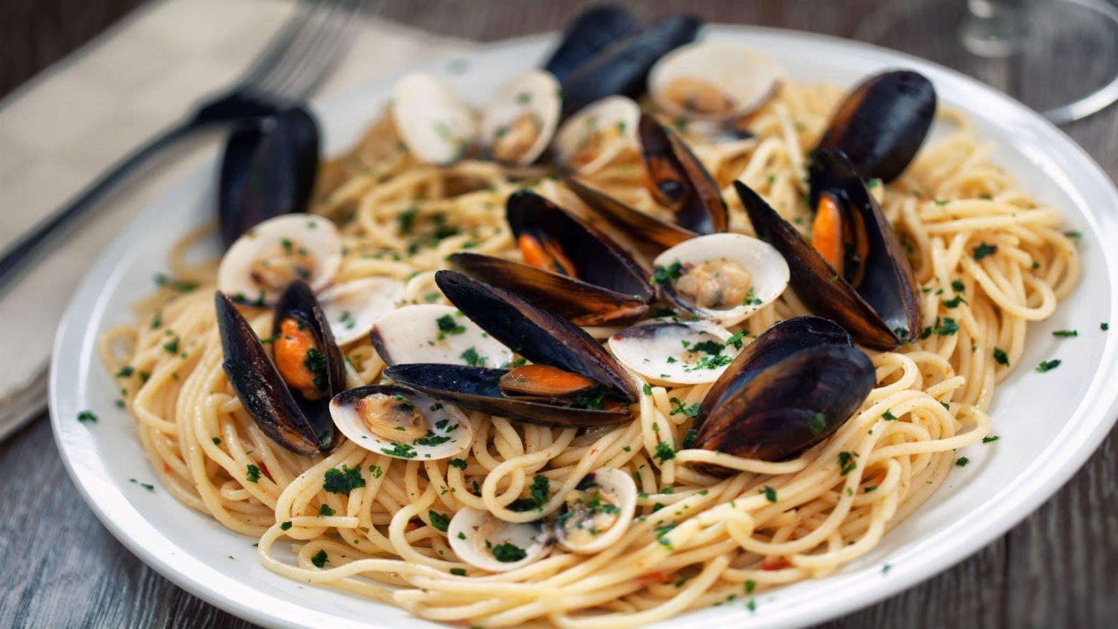 Spaghetti di frutti di mare