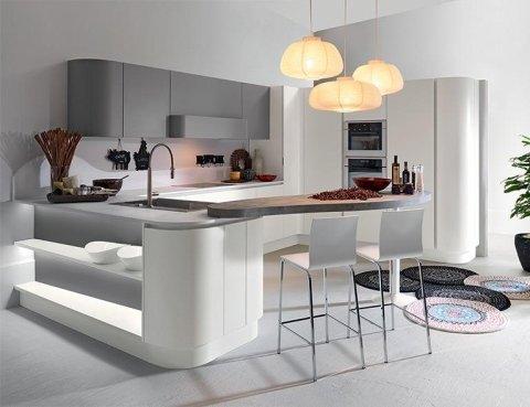 cucine in legno, laccate e laminate in tutte le tinte