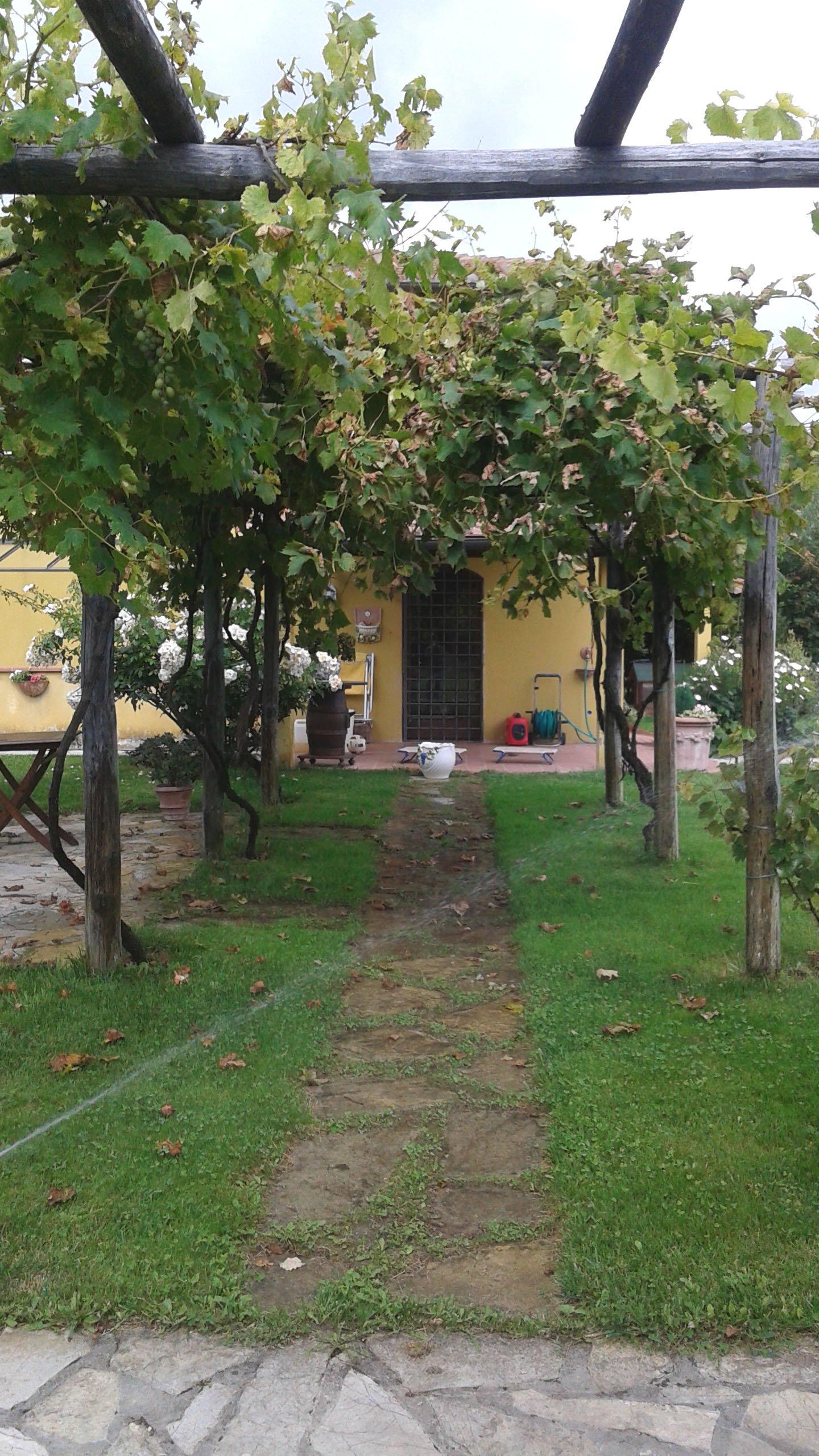 ingresso pedonale privata all'interno di un giardino