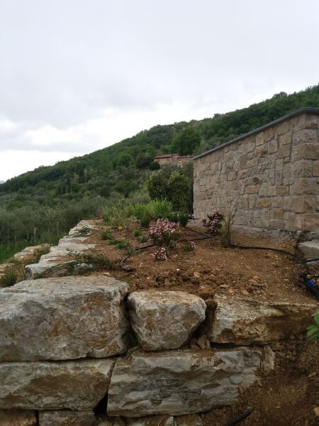 giardino privato terrazzato