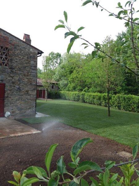 Rock made house and garden