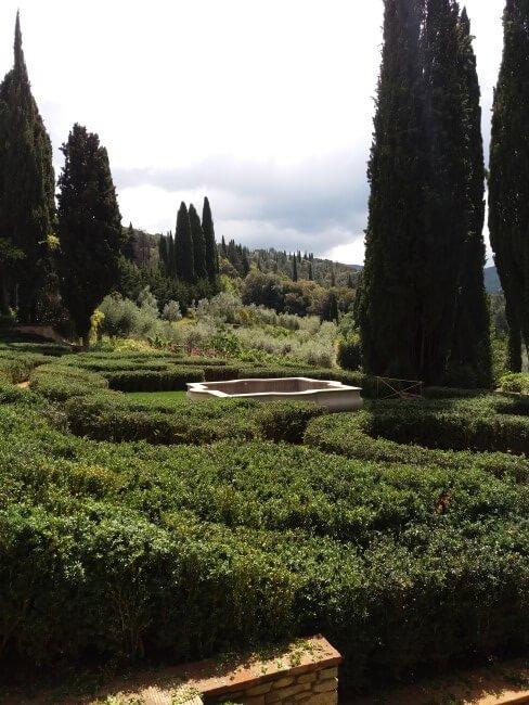 labirinto naturale in giardino privato