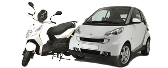 Scooter and Smart car rental