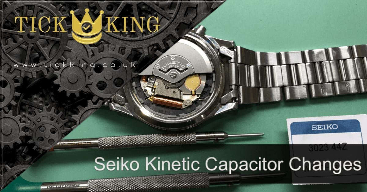 Seiko Kinetic Capacitor Replacements