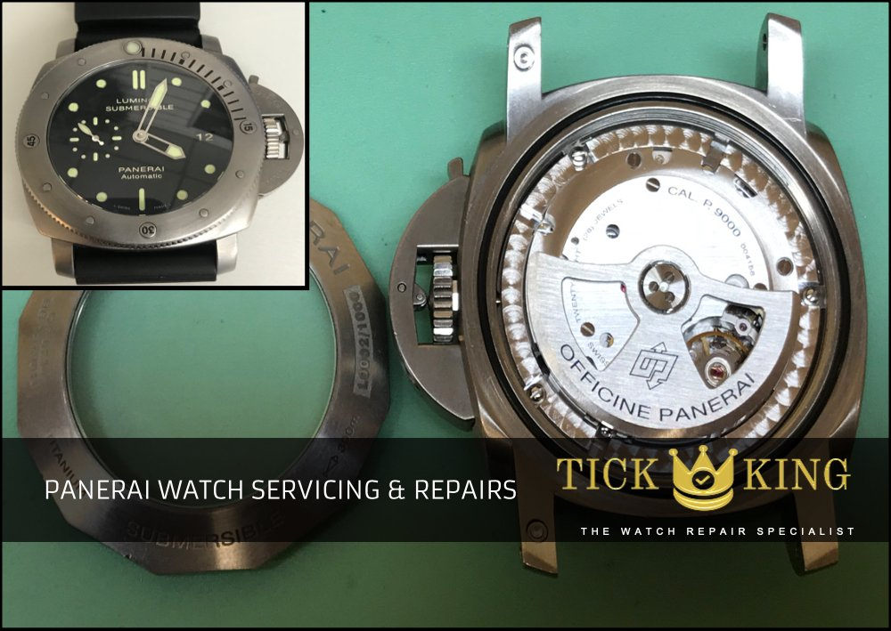 bc33620f261 Panerai watch repairs at Tick King in Nottingham Intu Victoria Centre.  Professional and fast service at best price. Same day repairs. Service &  overhaul ...