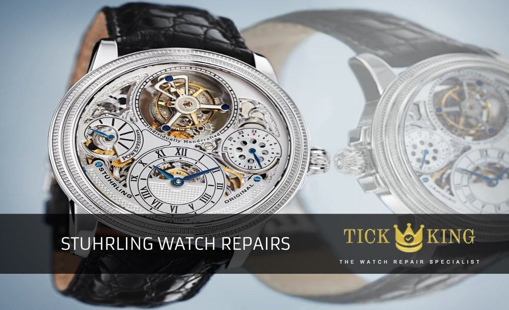 26aa41e9c59 Stuhrling watch repairs at Tick King in Nottingham Intu Victoria Centre.  Professional and fast service at best price. Same day repairs. Service &  overhaul ...
