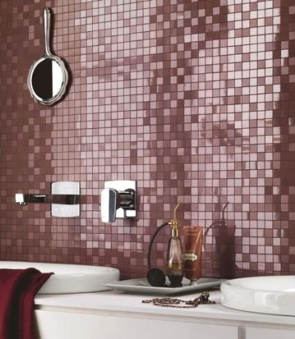 Mosaico bordeux rivestimento bagno