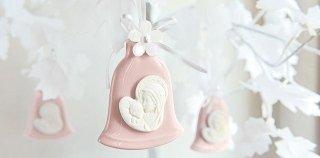 Campanella in porcellana rosa