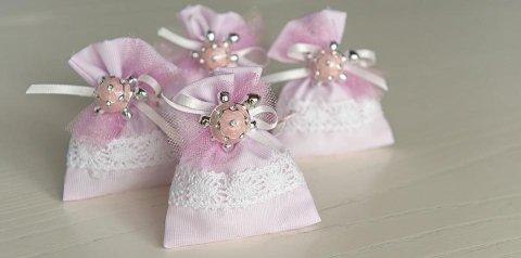 Sacchetti con tartaruga rosa