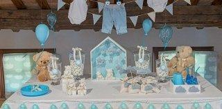 Bomboniere per battesimo azzurre
