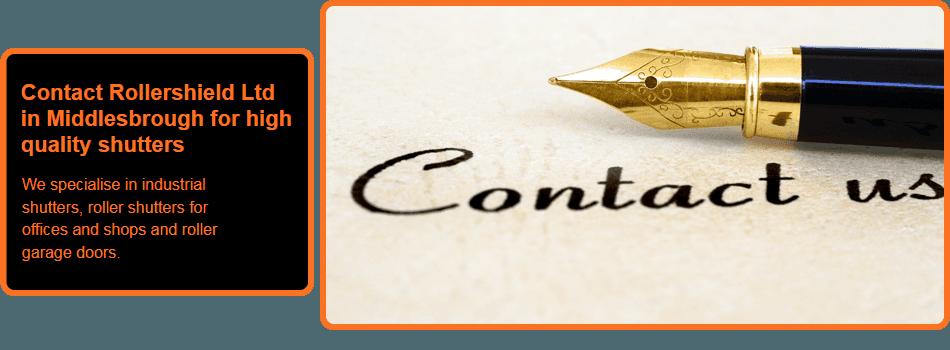 Contact Us written by fountain pen