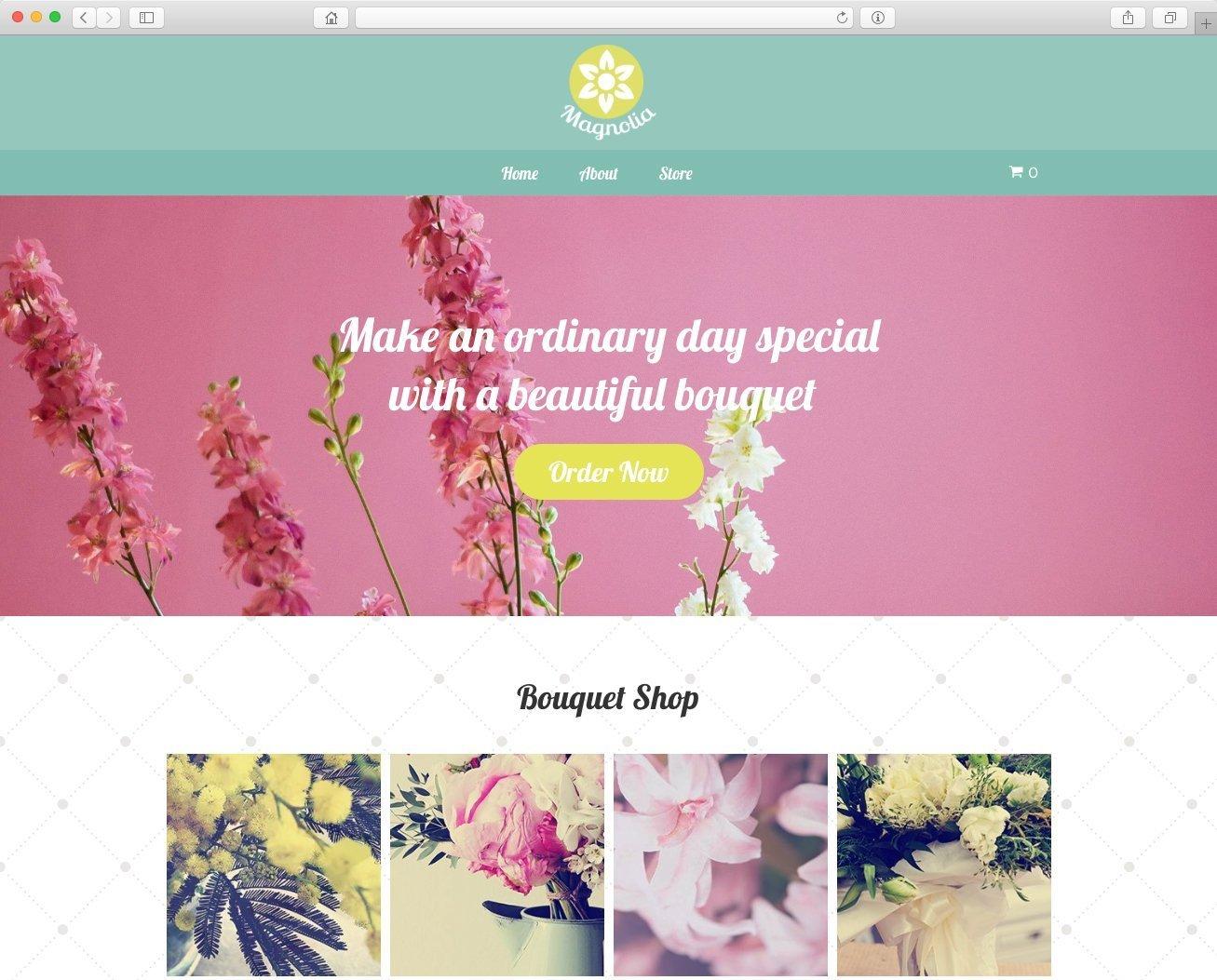 Website para florería