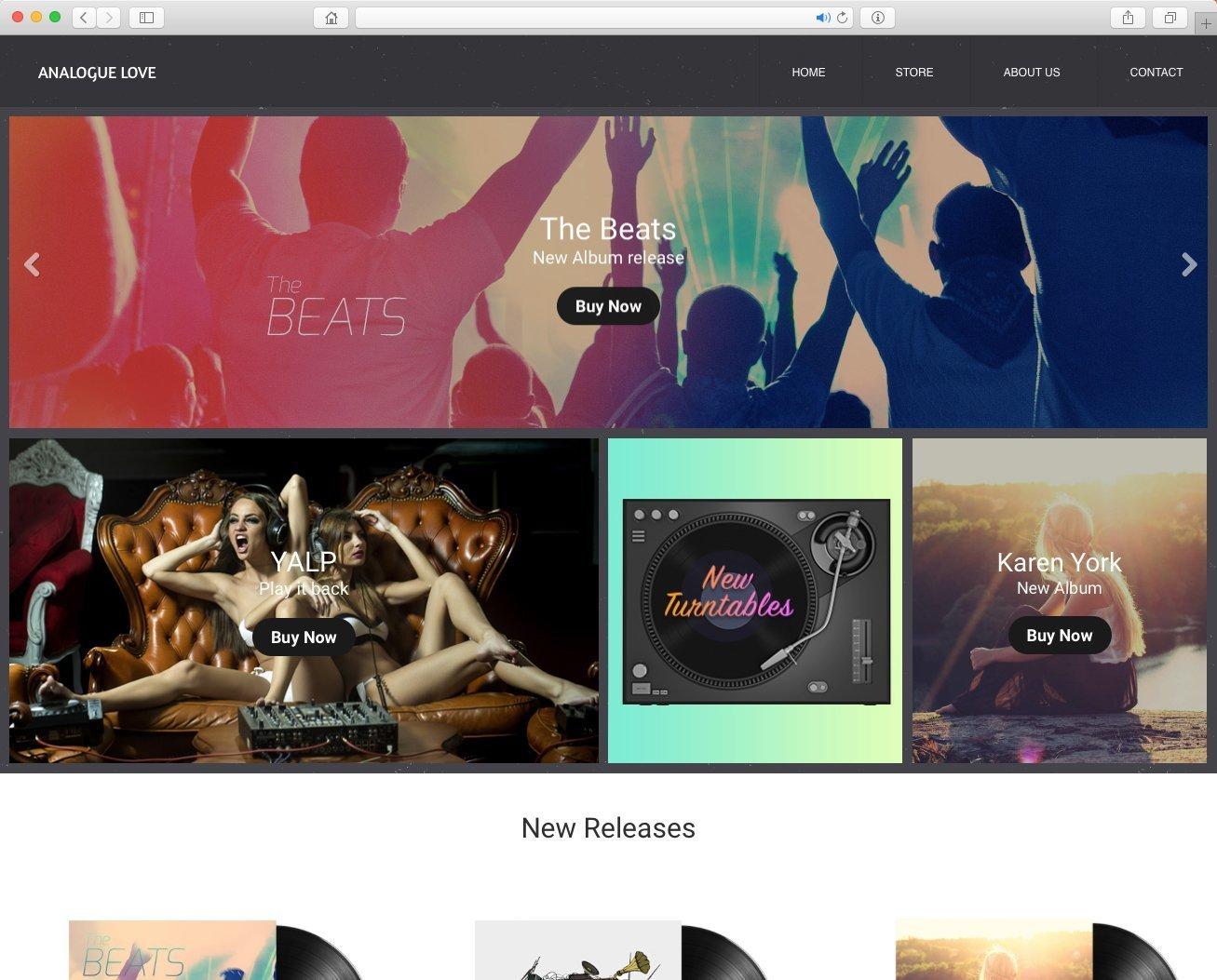 Website para banda de música