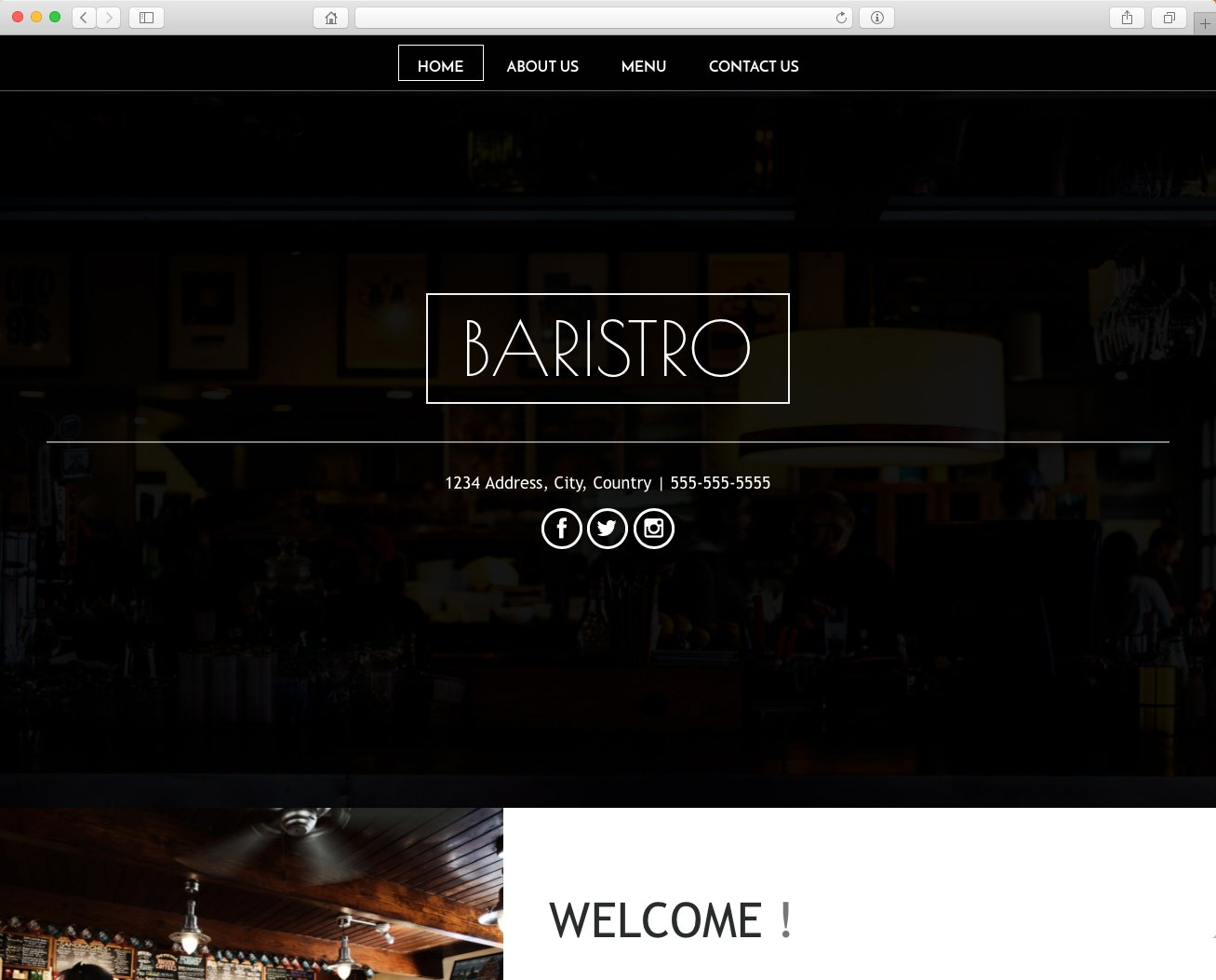 website para restaurante