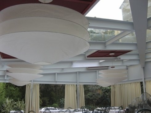 coperture a vetro per sale, coperture per ristoranti, coperture in vetro per saloni