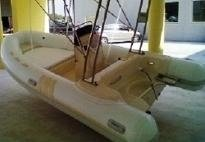 Dinghy with Steel Roll-Bar and Rod Holder