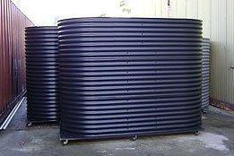 multiple black slimline tanks