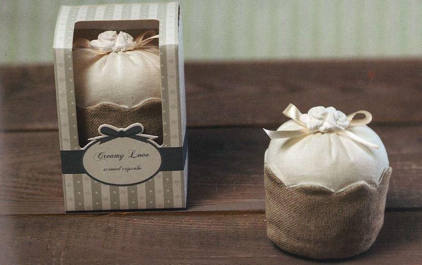 Cupcake profumato in cotone con scatola