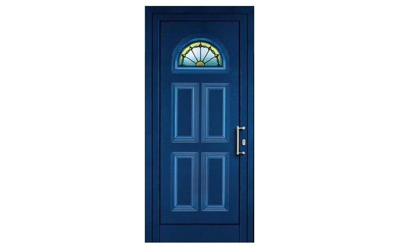 portoncino blu con vetro