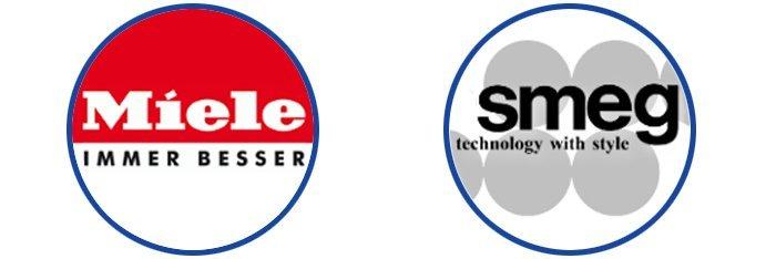miele and smeg logos