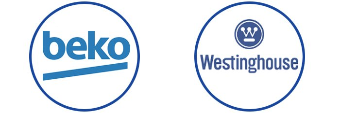 beko and westinghouse logos
