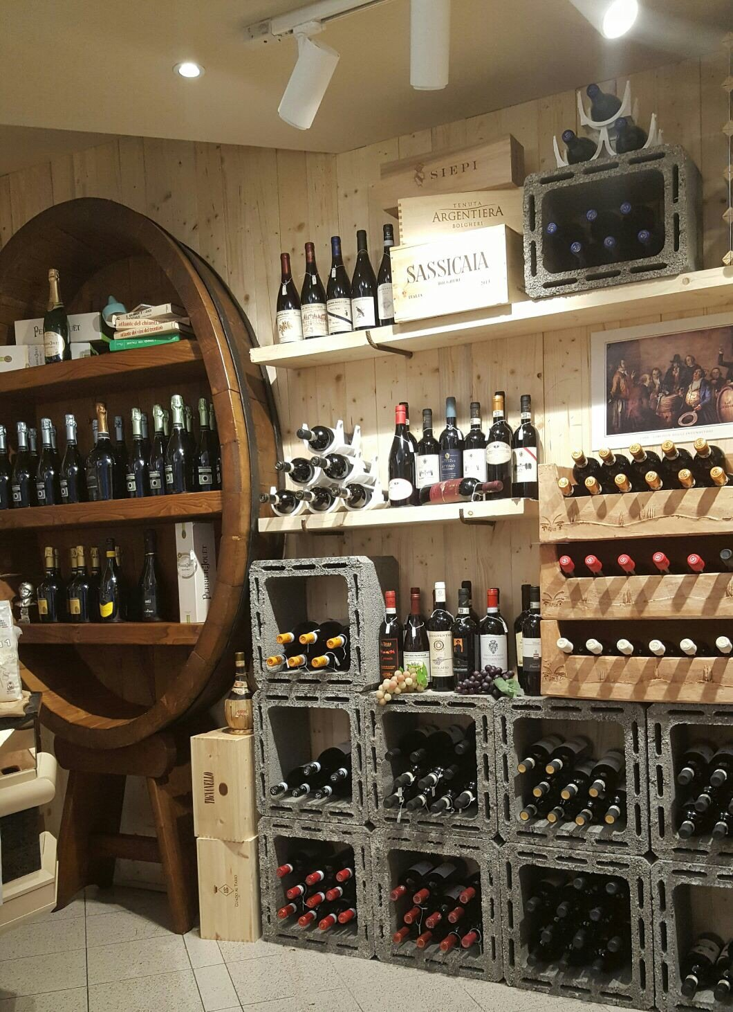 vini in esposizione