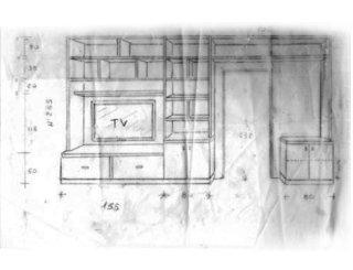 Progettazione di un salotto su richiesta del cliente