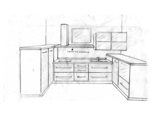 I nostri progetti partono da disegni a mano libera per definirsi in accordo col cliente