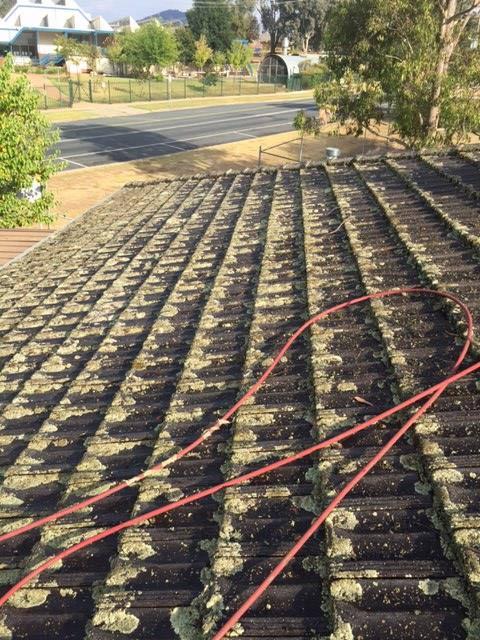 dirt coated roof