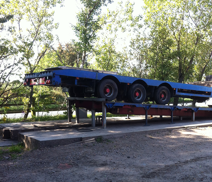 Blue trailer