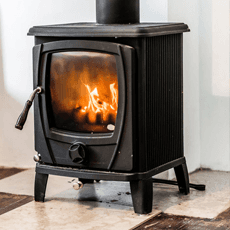 Oil central heating stove