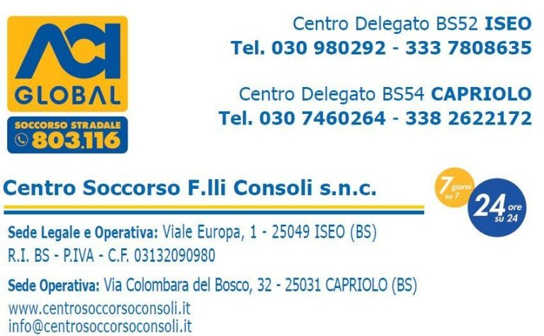 CENTRO SOCCORSO F.LLI CONSOLI snc - iseo capriolo