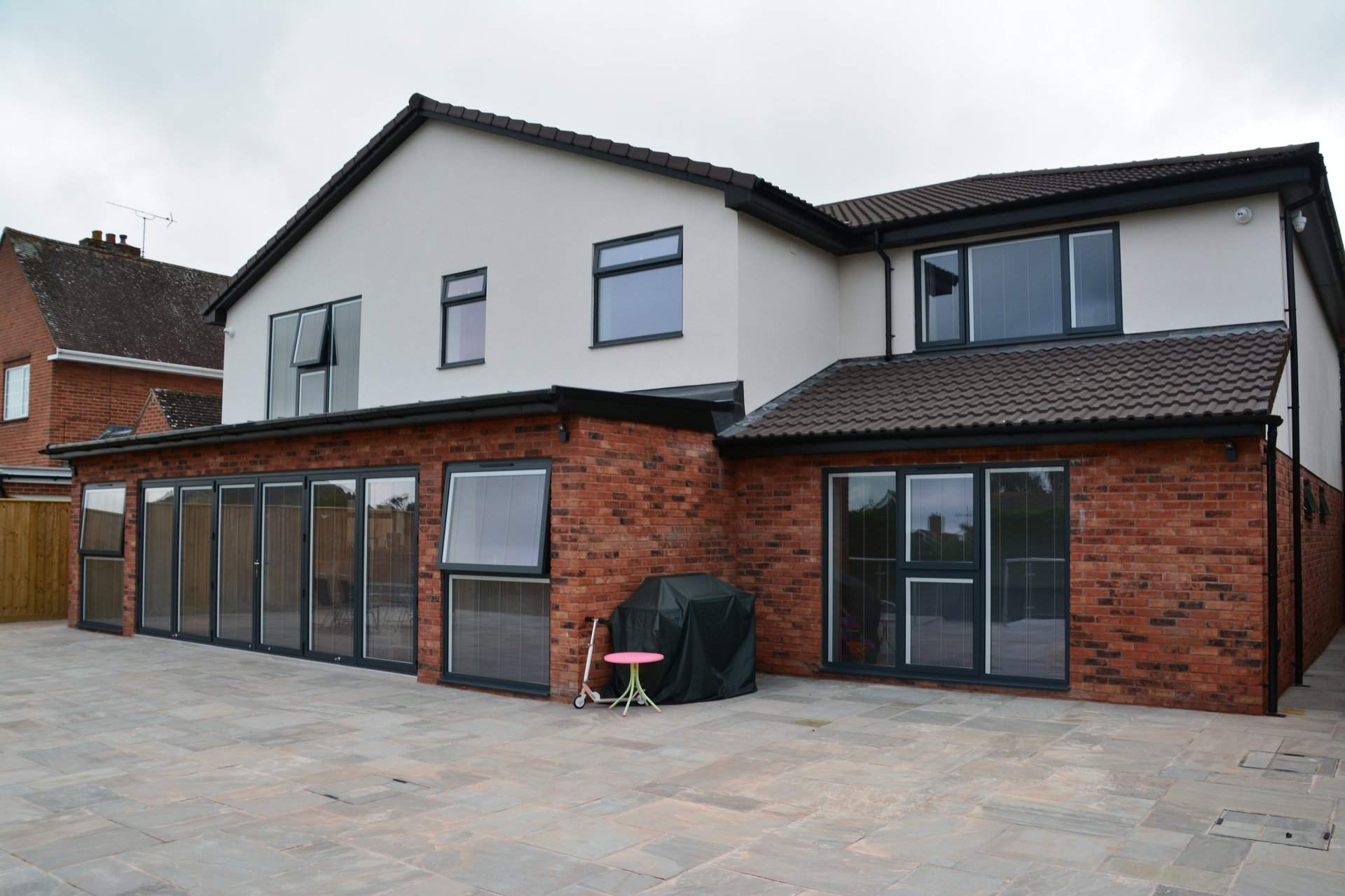 two-storey building glazing