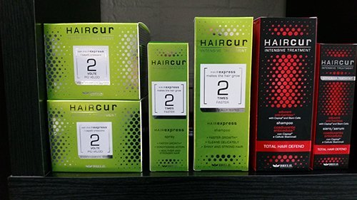 View of haircur products