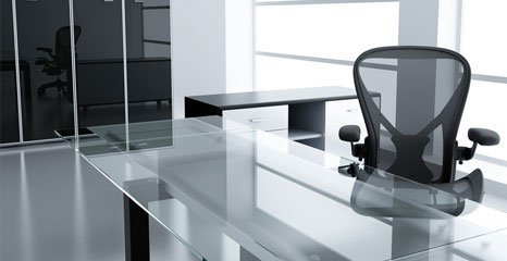 office chair and table