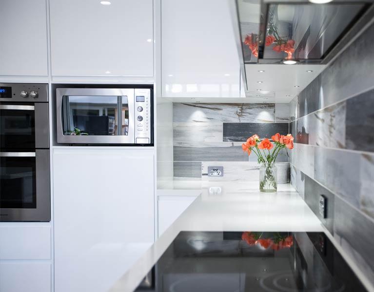 cabinetry solutions kitchen tiled splashback